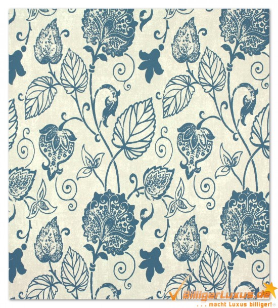 Non-woven wallpaper Scandinavian Vintage Marburg 51624 blue ...
