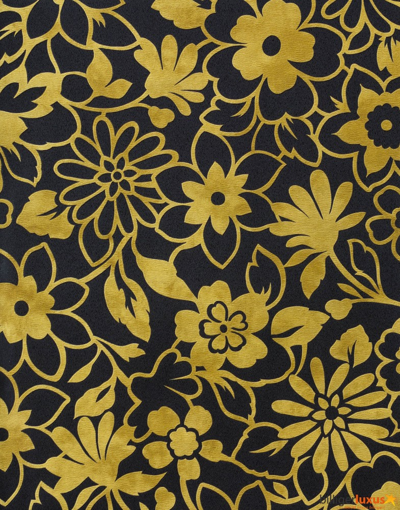 Vernissage nonwoven wallpaper 909343 909343 flowers black gold