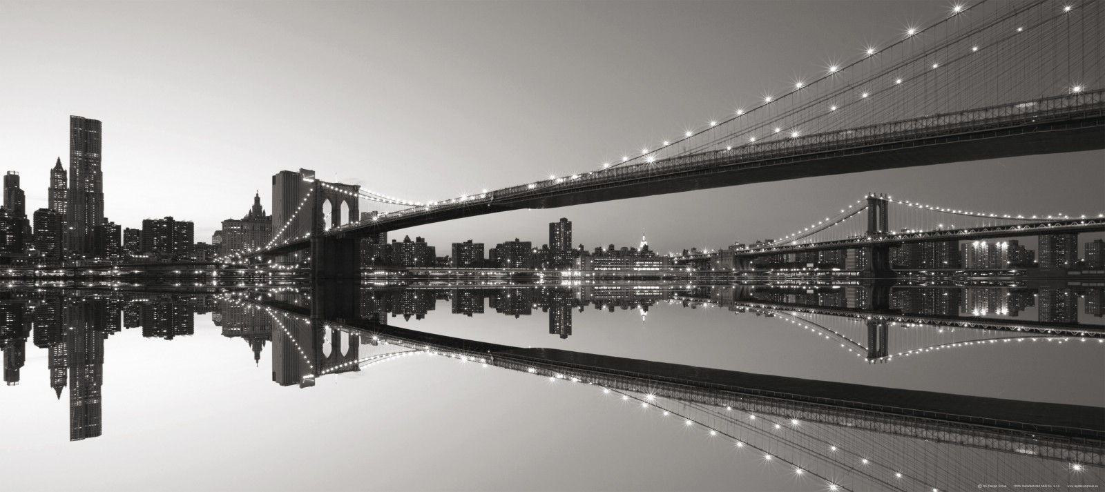 Wall mural wallpaper bridge brooklyn bridge new york nyc for Brooklyn bridge black and white wall mural