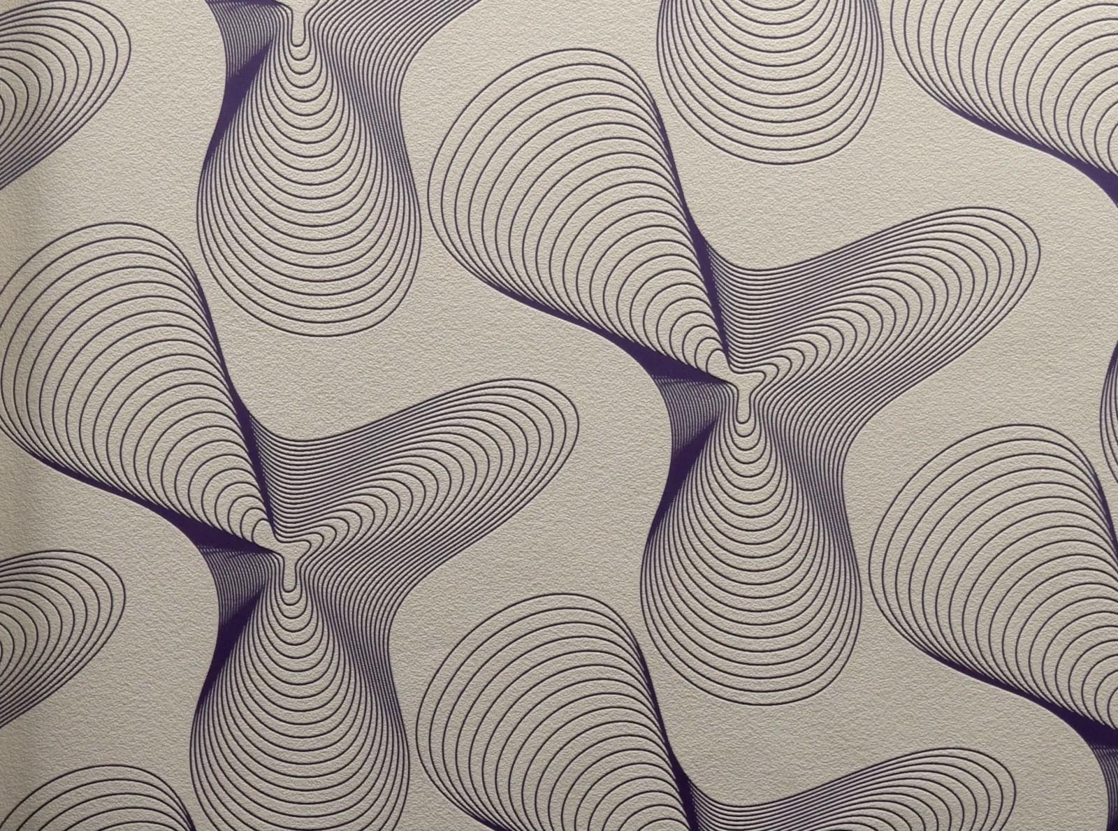 Retro Purple Wallpaper Retro 52014 Beige Purple