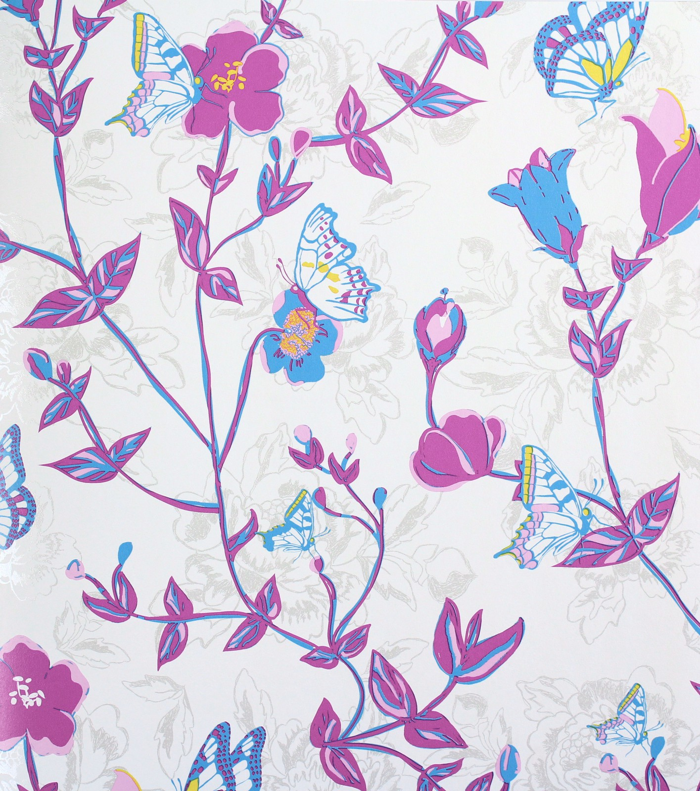 Tapeten Vintage Shabby Chic : Wallpaper Rasch Vintage Chic non-woven wallpaper 321561 floral pink