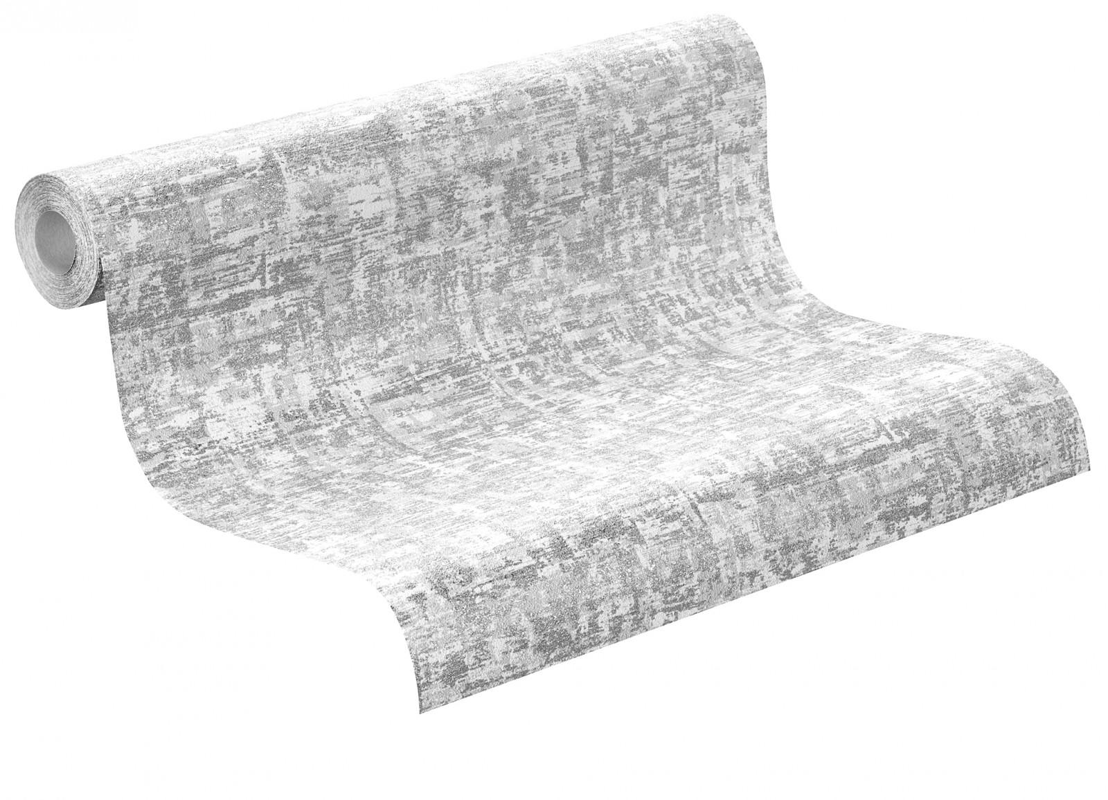 Dieter Bohlen Tapete Glitter : Wallpaper Rasch City Lights non-woven wallpaper 412529 design silver