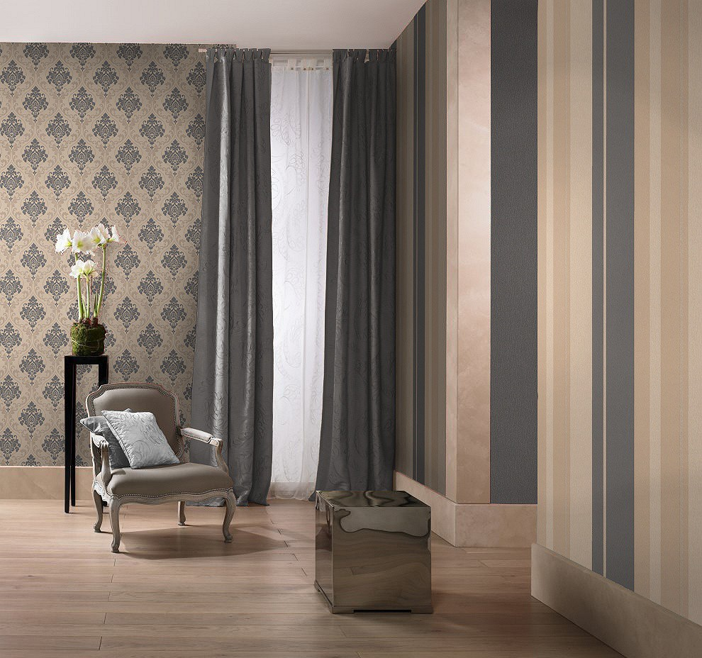 non woven wallpaper rasch gentle elegance 725643 baroque. Black Bedroom Furniture Sets. Home Design Ideas