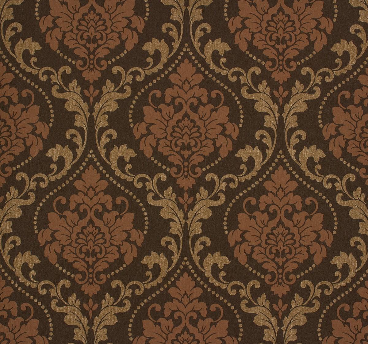 Copper gold wallpaper - Rasch ornament tapete ...