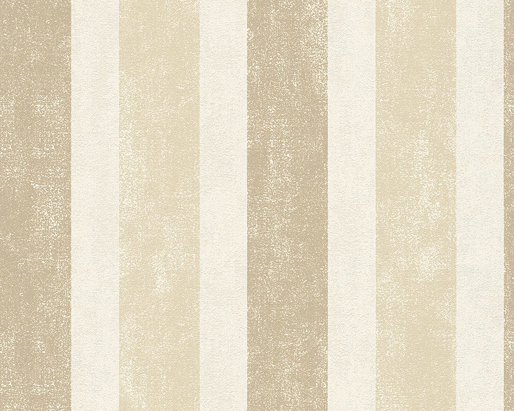 non-woven wallpaper stripes beige brown wallpaper Schöner ...