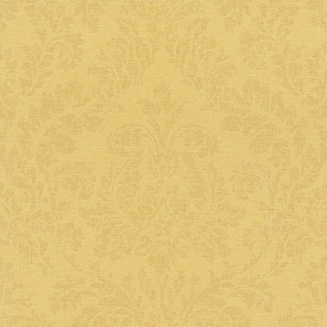 Vliestapete--gelb--braun--Barock--Muster--Rasch--F.jpg
