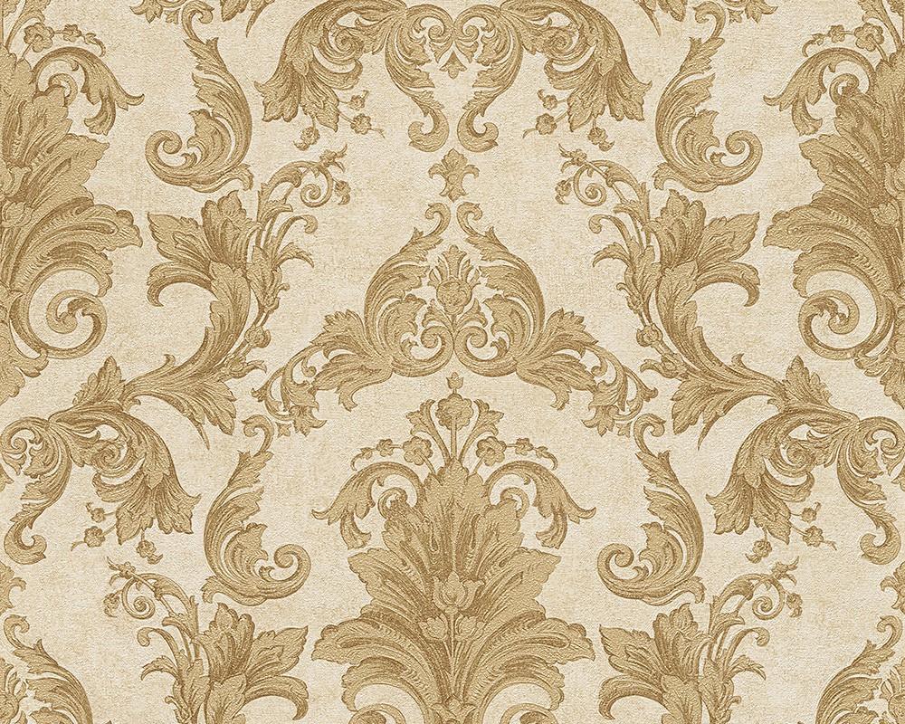 Gold Baroque Wallpaper...