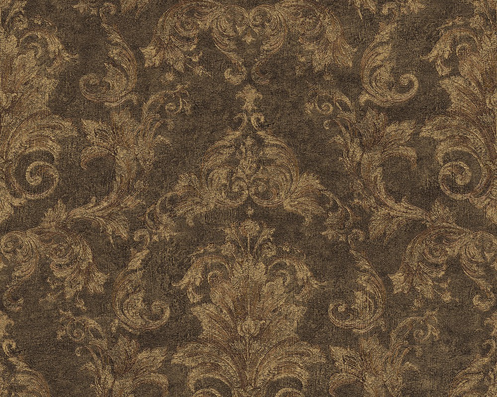 Wallpaper versace ornament green brown 96215 1 - Barock wallpaper ...