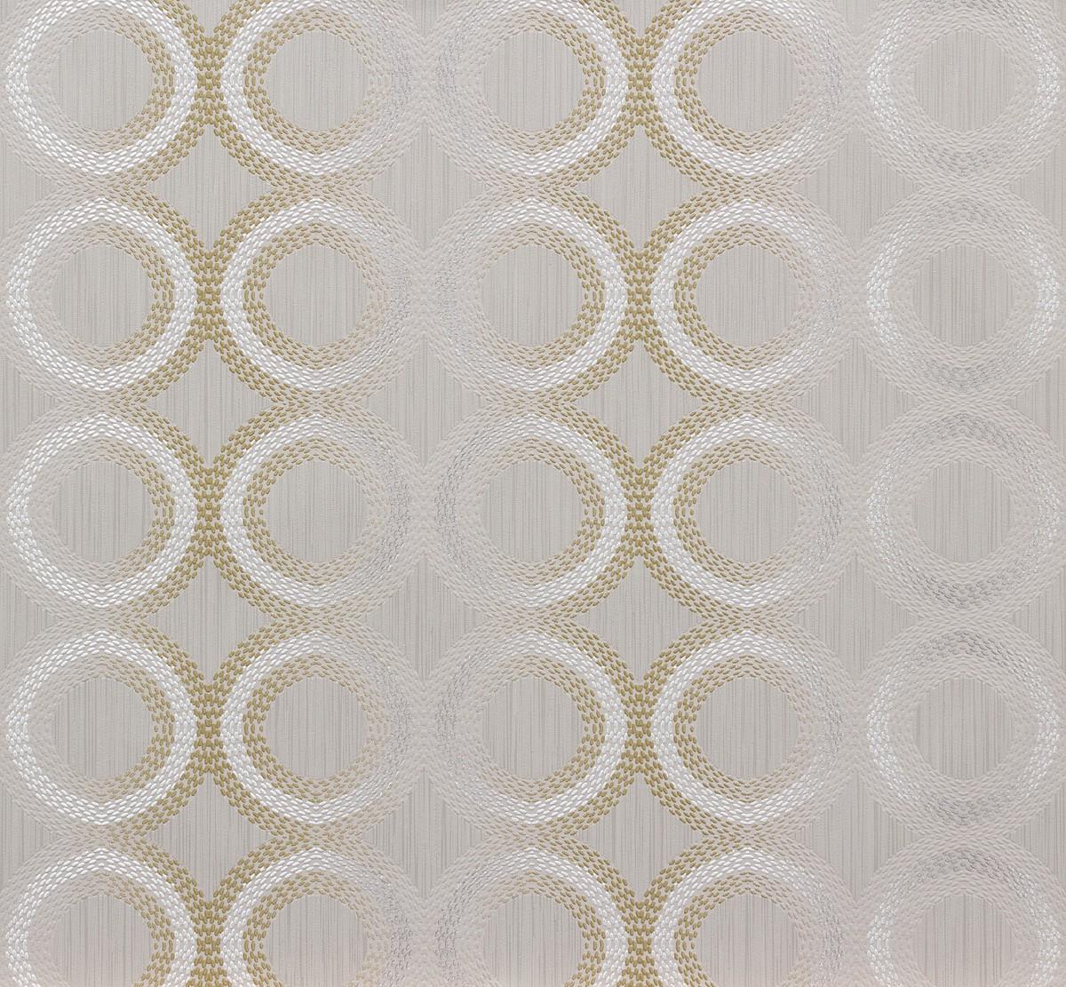 Wallpaper non woven grey gold graphic marburg 56736 - Vliestapete grau ...