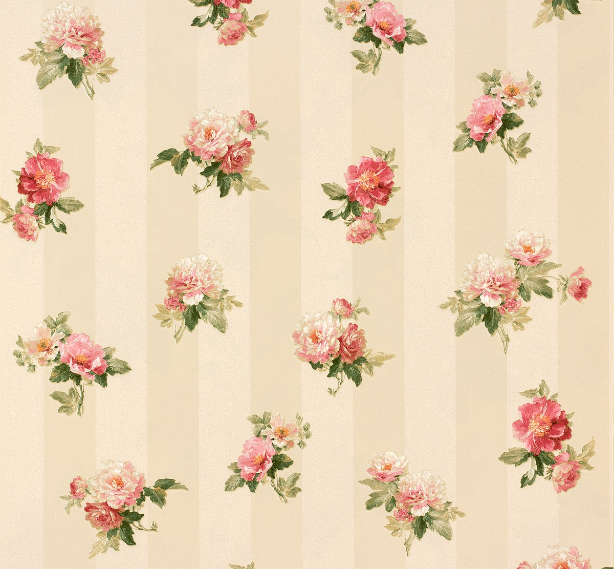 wallpaper romantica flower cream pink as 30447 3. Black Bedroom Furniture Sets. Home Design Ideas