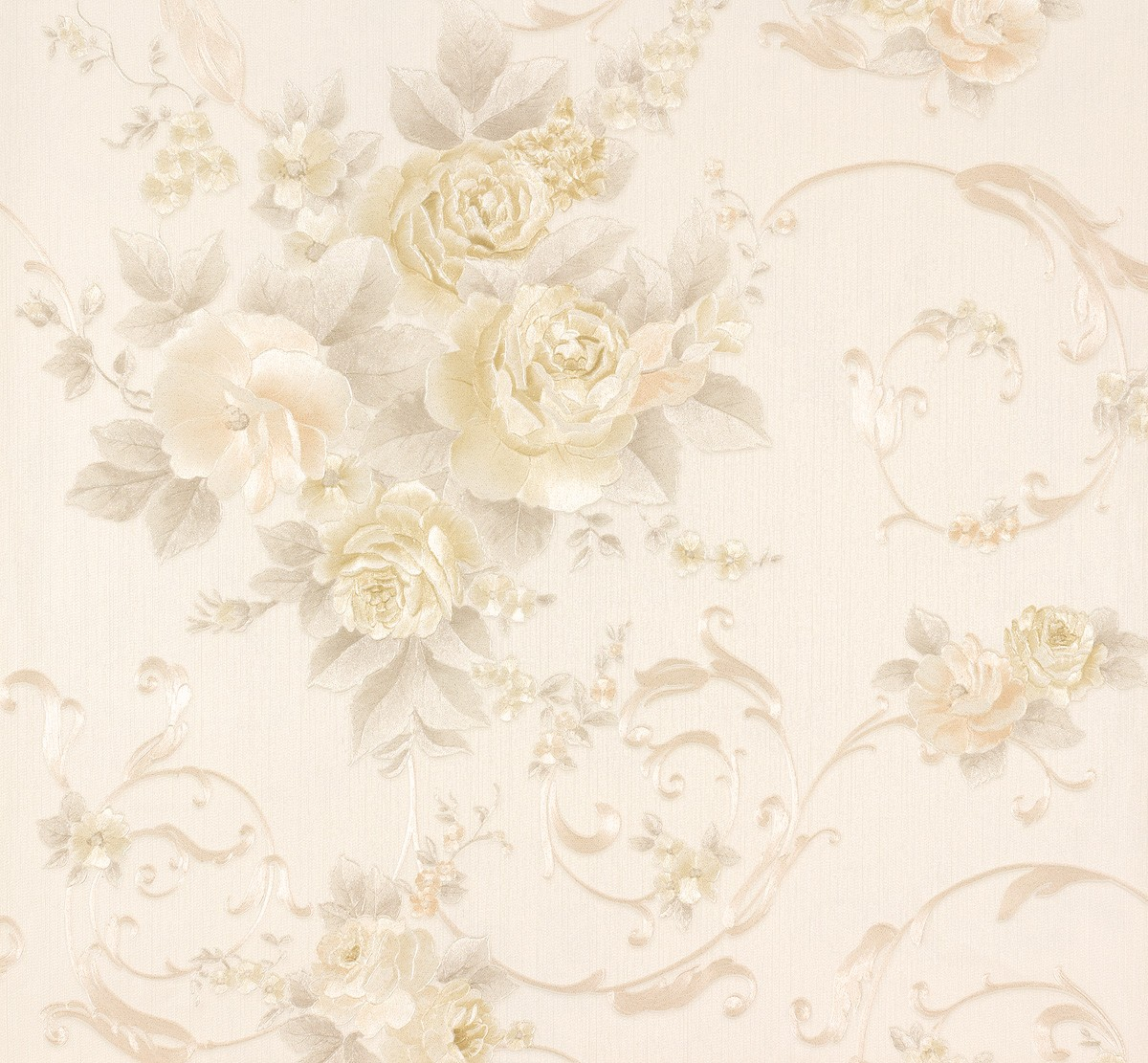 wallpaper vintage flowers cream - photo #25