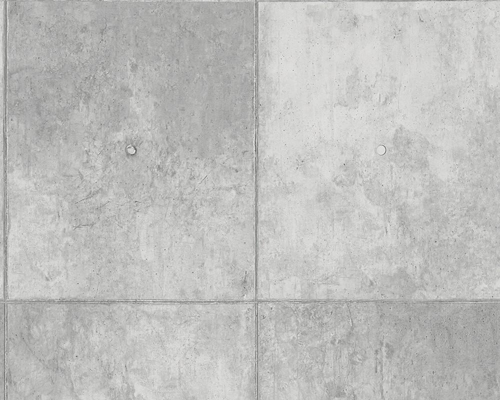 Schöner Wohnen Tapete Concrete : Wallpaper AS Creation concrete grey ...