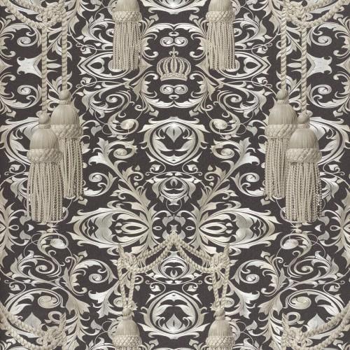 harald gl ckler wallpaper black drape 52530. Black Bedroom Furniture Sets. Home Design Ideas