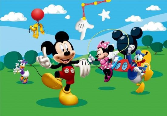 Wall mural wallpaper Disney Mickey Mouse kids wallpaper photo 360 cm x ... | 550 x 383 jpeg 50kB