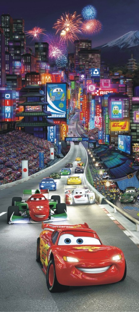 Door wallpaper wall mural wallpaper disney cars 2 in china for Disney cars mural uk