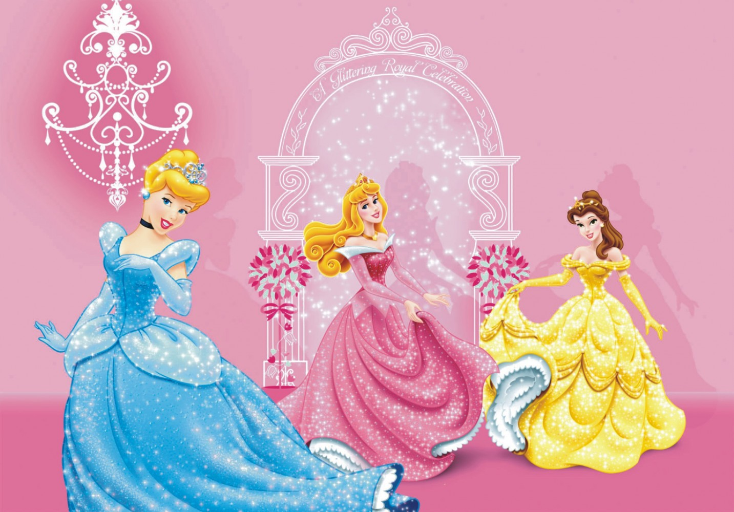 Xxl poster wall mural wallpaper disney princess rose photo for Disney princess wallpaper mural
