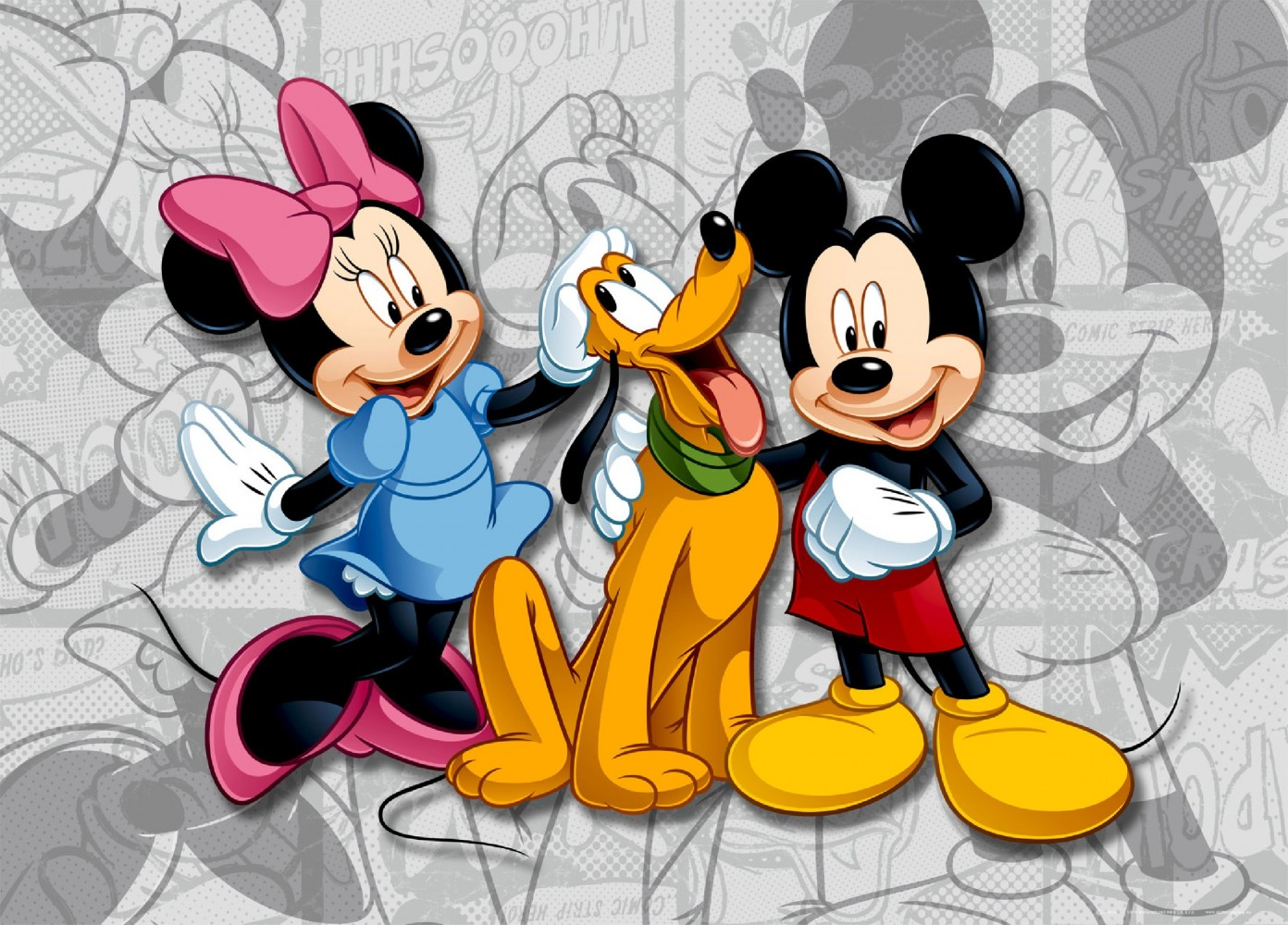 xxl poster wall mural wallpaper disney micky mouse minni pluto photo 160 cm x 115 cm. Black Bedroom Furniture Sets. Home Design Ideas