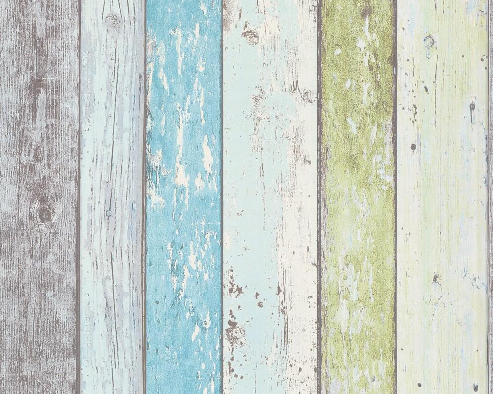 Behang Slaapkamer Gamma : Weathered Wood Plank Wall