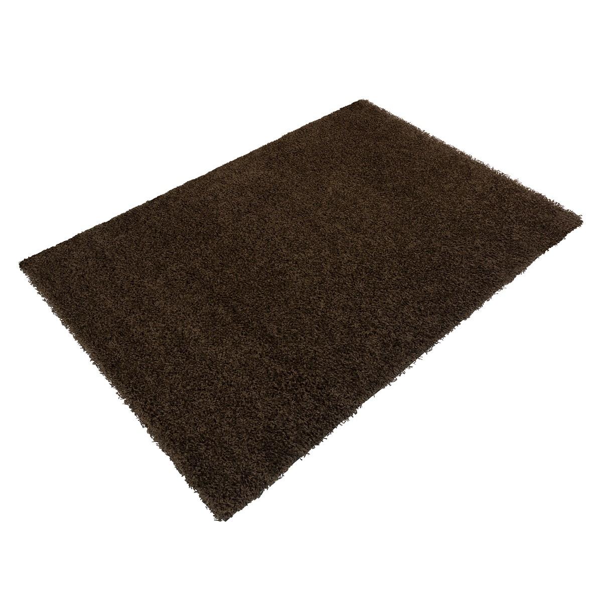 Carpet brown uni Shaggy Fancy diff. sizes