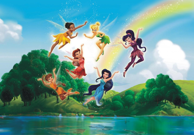 Wall Mural Wallpaper Disney Tinkerbell And Friends Fairies
