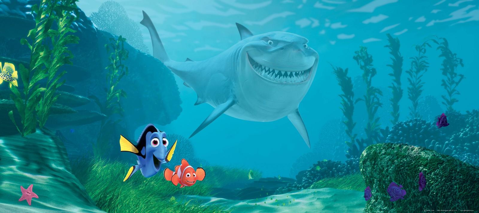 Wall mural wallpaper Finding Nemo Marlin Dorie & Bruce ...