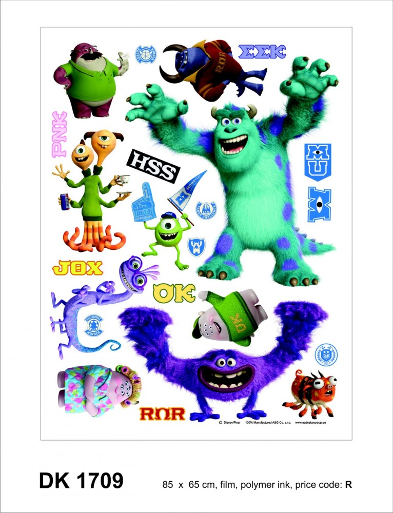 wall sticker wall tattoo wall decoration t 220 v disney diy monsters inc university wall art sticker decal graphic