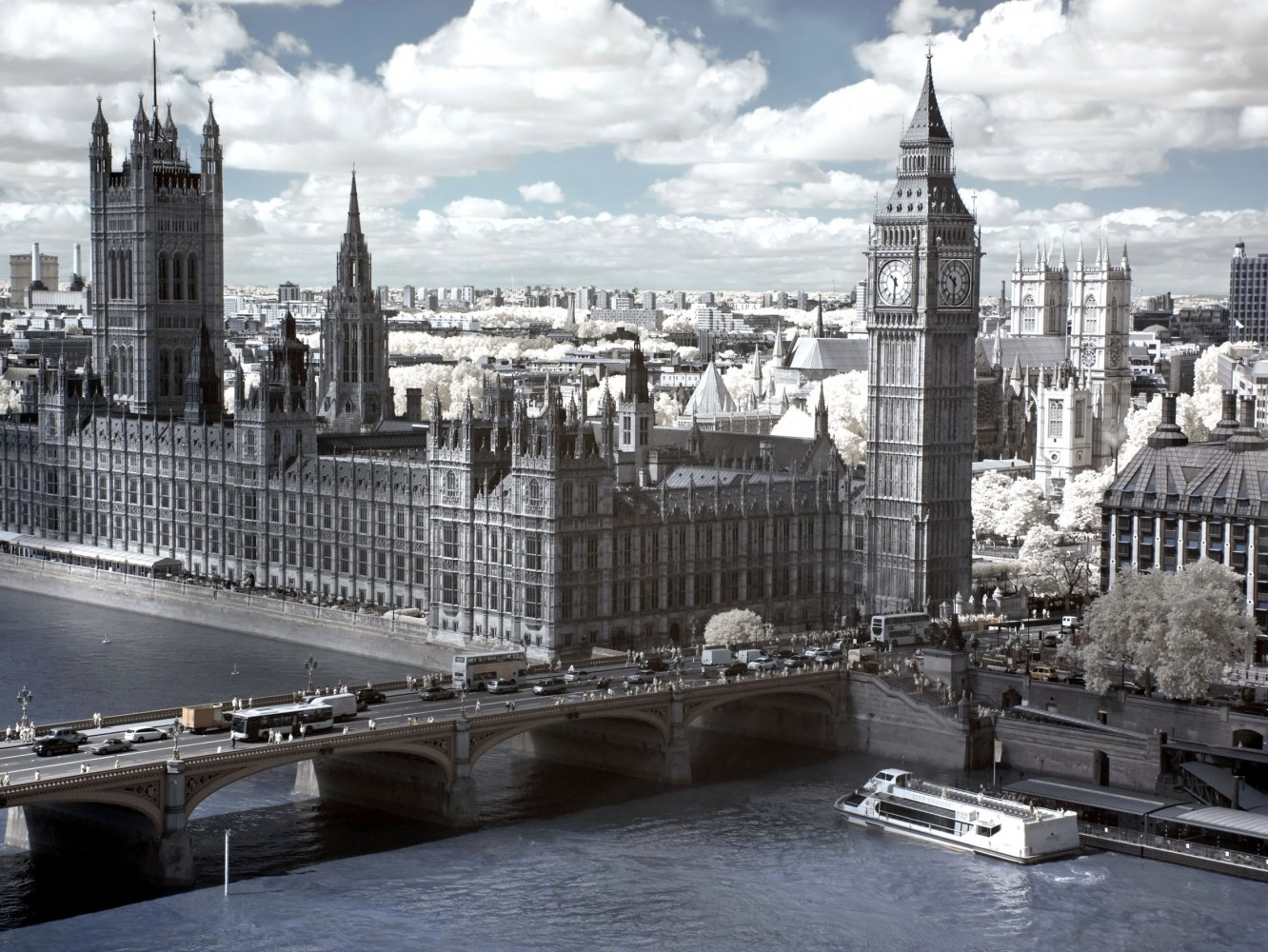 Wall mural wallpaper big ben london temse photo 360 cm x for Black and white london mural wallpaper