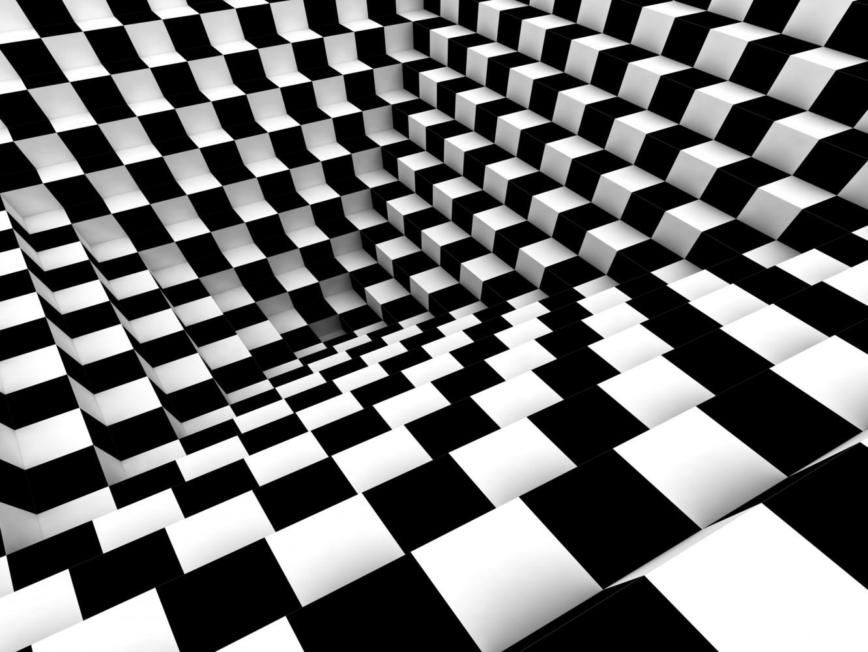 Wall Mural Wallpaper Chess Pattern 3d Effect Photo 360 Cm X 270 Cm 3 94 Yd X 2 95 Yd
