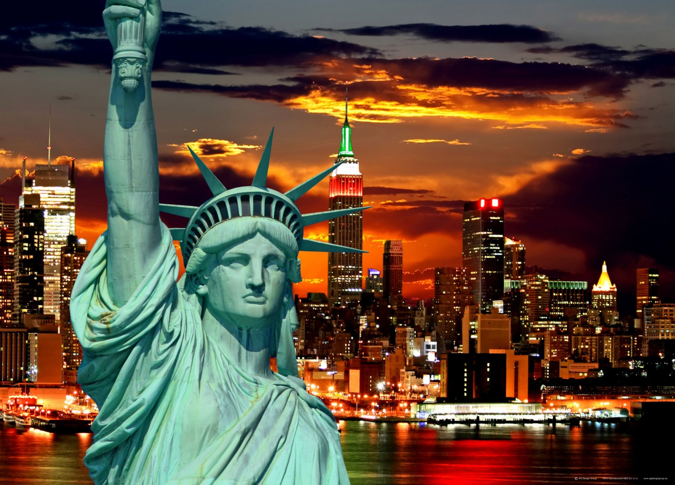 Xxl poster wall mural wallpaper statue of liberty new york for Acheter poster mural new york