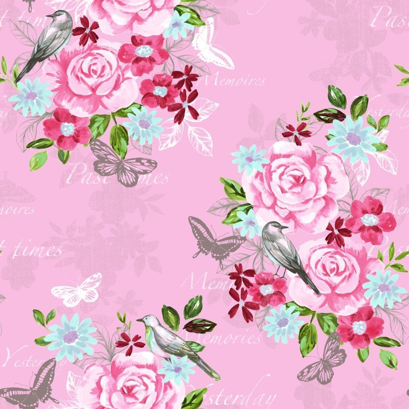 Vintage Floral Rose Wallpaper 138120 Vintage Floral Rose