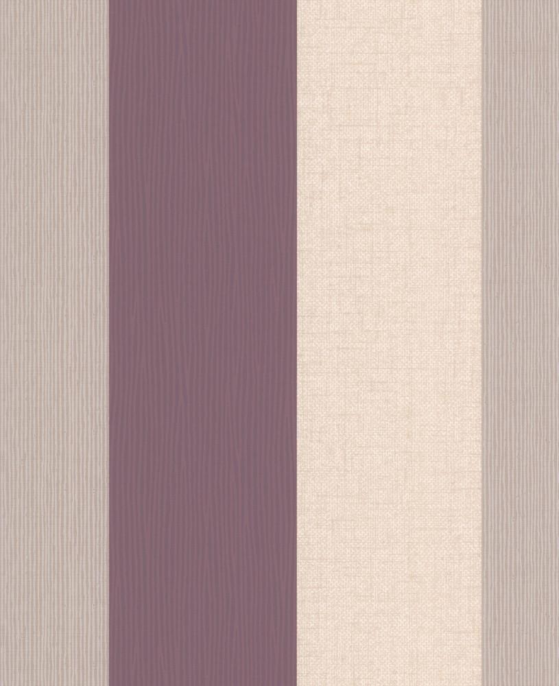 Wallpaper Graham Brown Fabric Collection 18943 Stripes Cream Beige Purple