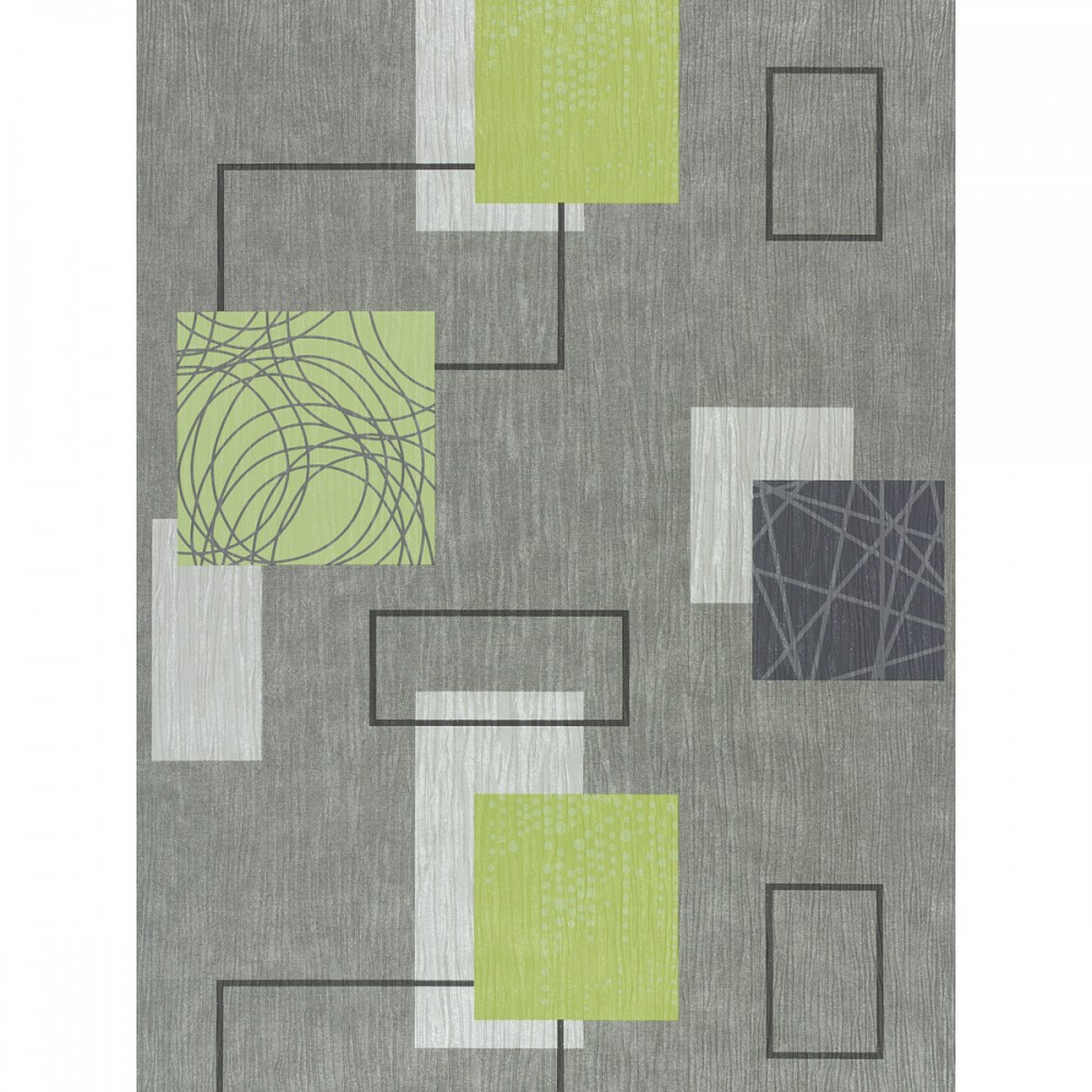 rasch homestyle domino 277524 wallpaper structure grey white green. Black Bedroom Furniture Sets. Home Design Ideas