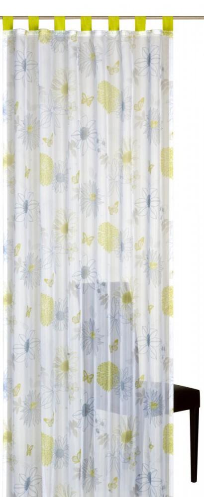 Loop curtain elbersdrucke floral flower mix 03 transparent curtain