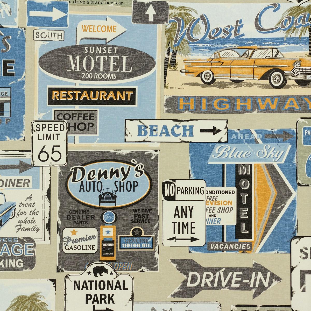tapete vintage design beige blau tapeten rasch textil new age 319773. Black Bedroom Furniture Sets. Home Design Ideas
