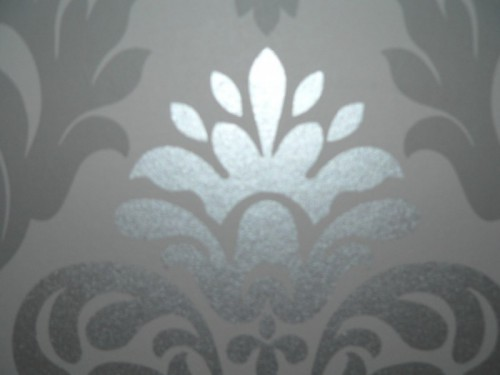 Wallpaper baroque ornaments rasch grey glossy 148213 - Rasch ornament tapete ...